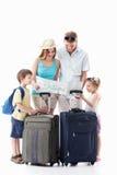 Familie, die auf Ferien geht Lizenzfreies Stockbild