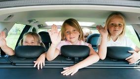 Familie, die mit dem Auto reist Lizenzfreies Stockbild