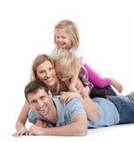 Familie, die Spaß hat Stockbilder