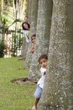 Familie, die zusammen genießt Stockfotografie