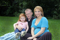 Familie draußen Stockfotografie