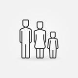 Familie eenvoudig pictogram Stock Foto