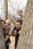 Familie en aard Stock Fotografie