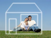 Familie en droom Stock Foto