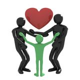 Familie en hart Royalty-vrije Stock Afbeelding