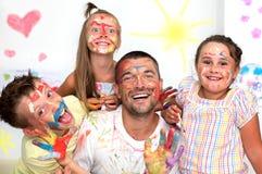 Familie en onderwijsconcept Royalty-vrije Stock Foto