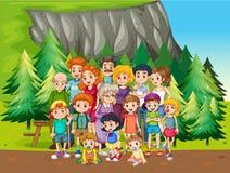 Familie en park vector illustratie