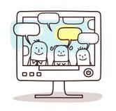 Familie en sociaal netwerk vector illustratie