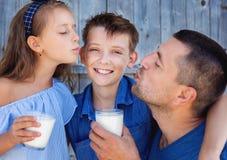 Familie en voedselconcept Royalty-vrije Stock Afbeelding