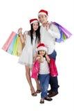 Familie feiern Weihnachten mit dem Einkaufen Lizenzfreie Stockfotografie