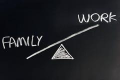 Familie gegen Arbeit lizenzfreie stockbilder
