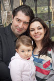 Familie in geschlossenem Feld Lizenzfreie Stockfotos