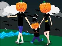 Familie in Halloween vector illustratie