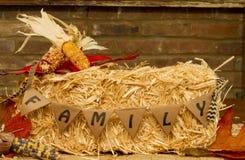 Familie Hay Bale lizenzfreies stockbild
