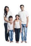 Familie het glimlachen Royalty-vrije Stock Foto's