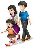 Familie het lopen Royalty-vrije Stock Afbeelding