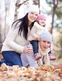 Familie in het park Royalty-vrije Stock Afbeelding