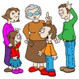 Familie het spreken Stock Afbeelding