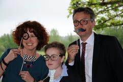 Familie het stellen royalty-vrije stock fotografie
