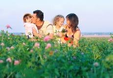 Familie im Freien Stockbilder