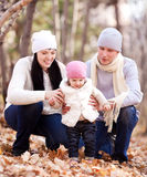 Familie im Park Stockfoto