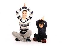 Familie - junge Frau und Kind Lizenzfreies Stockfoto