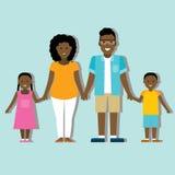 Familie kleurrijk silhouet Royalty-vrije Stock Afbeeldingen