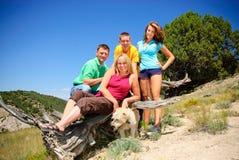 Familie in Kolorado lizenzfreies stockfoto