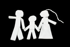 Familie, Kunst von den Geweben Stockbilder