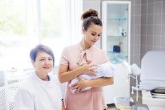 Familie medische kliniek Stock Afbeelding