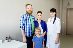 Familie medische kliniek Stock Foto's