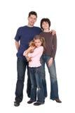 Familie met Dochter Stock Afbeeldingen