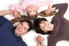 Familie met Dochter Stock Afbeelding