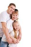 Familie met dochter royalty-vrije stock fotografie