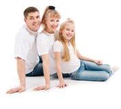 Familie met dochter stock foto's