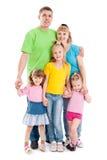 Familie met drie dochters stock afbeelding