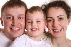 Familie met jongen 2 Royalty-vrije Stock Afbeeldingen
