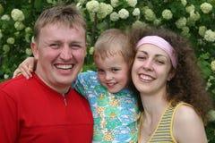 Familie met jongen Royalty-vrije Stock Foto's