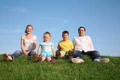 Familie met kinderen Royalty-vrije Stock Fotografie