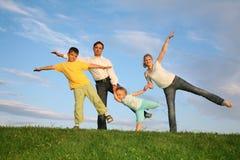 Familie met kinderen Stock Foto's