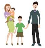 Familie met twee childs Stock Foto