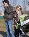 Familie met Wandelwagen Stock Fotografie