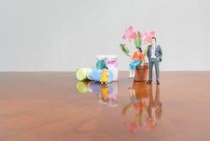 Familie mit Blume Stockbilder