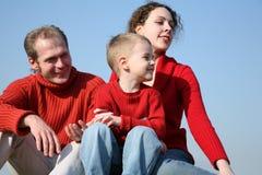 Familie mit Jungen stockfotografie