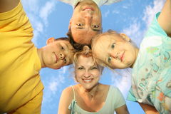 Familie mit Kindern Stockbild