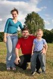 Familie mit Sohn Lizenzfreie Stockfotografie
