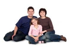 Familie mit Tochter Stockfotos