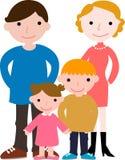 Familie mit zwei Kindern Stockfotografie