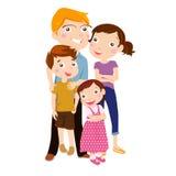 Familie mit zwei Kindern Lizenzfreie Stockbilder