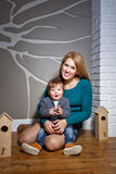 Familie, Mutter und Sohn Stockfotografie